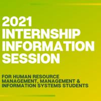 Internship Information Session 2021