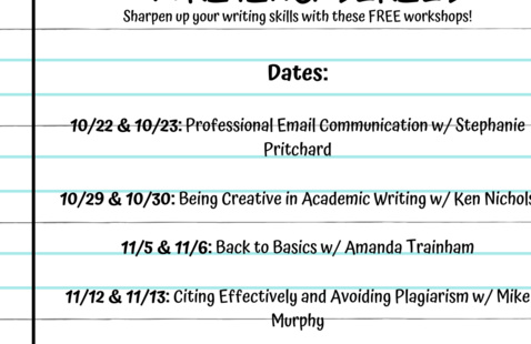 EXCEL: Successful Writing Series | FYE + Writing Fellows + Writing Center