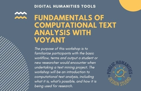 Digital Humanities Tools - Fundamentals of Computational Text Analysis with Voyant
