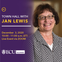 Town Hall with Jan Lewis; December 3, 2020; 10AM -11AM