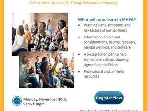 Virtual Mental Health First Aid Training