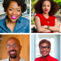 Clockwise: Dr. Shardé Davis, Dr. Mareena Robinson Snowden, Dr. James Mickens, and Tanya Ballard Brown