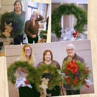 Christmas Wreath Building at the Waterloo Center for the Arts