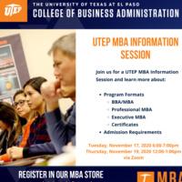 UTEP MBA Information Session