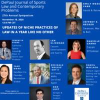 CLE - DePaul Journal of Sports Law and Contemporary Problems 27th Annual Symposium: Updates in Niche Practices of Law in a Year Like No Other