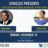 Civic Lex Presents: A Discussion with James Brown and Tiffany Tatum