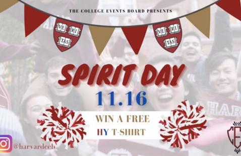 Harvard-Yale Spirit Day poster