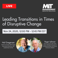Leading Transitions During Times of Disruptive Change