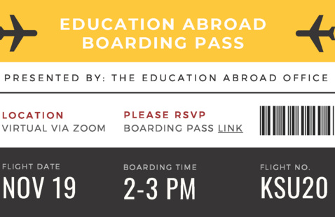 Education Abroad Boarding Pass
