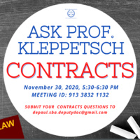 Ask Prof. Kleppetsch: Contracts