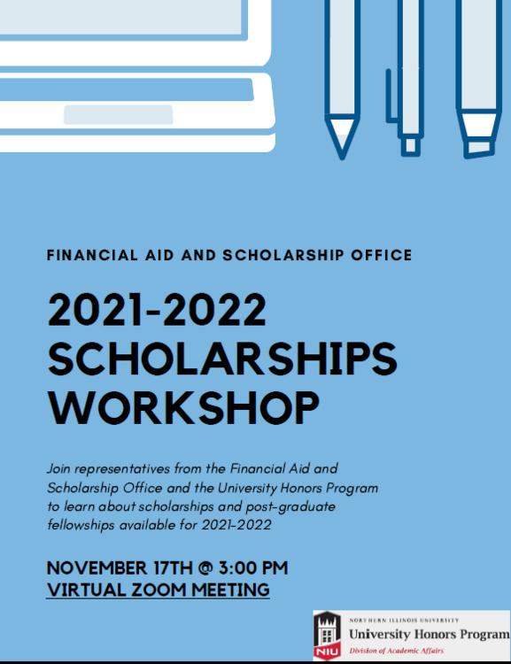 Niu Academic Calendar 2022.2021 22 Scholarships Workshop Northern Illinois University
