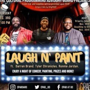 Laugh N' Paint Flyer