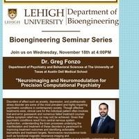 Bioengineering Seminar Series:  Greg Fonzo