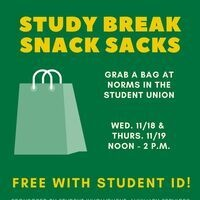 Study Break Snack Sacks