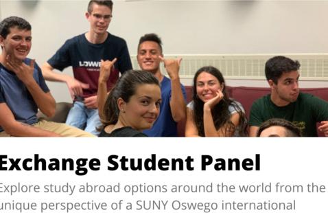 Exchange Student Panel: Exploring the world from Oswego