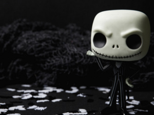 photo of a mini stylized skeleton figure