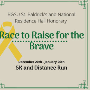 Race to Raise for the Brave flyer, yellow ribbon