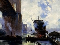 """Morning on the River"" by Jonas Lie"