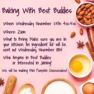 Baking with Best Buddies flyer