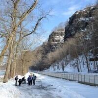 Hikers in Winter @ Nockamixon Cliffs