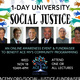 1-Day University on Social Justice: An Online Awareness Event & Fundraiser