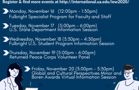 International Education Week: Virtual Edition (11/16-11/20)