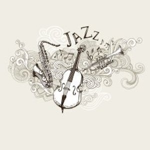 "Saxophone, Bass, trumpet, ""Jazz"""