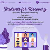 Students for recovery graphic