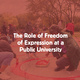 The Role of Freedom of Expression at a Public University