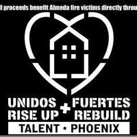 Logo for Unidos/Fuertes - Rise up/Rebuild