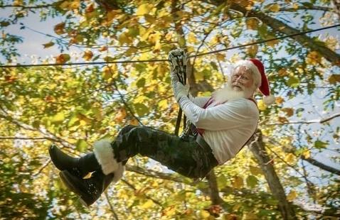 Did you know Santa ziplines too?