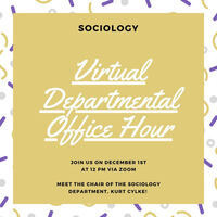 Sociology Office Hour for Prospective Students