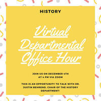 History Office Hour for Prospective Students