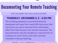 Documenting Your Remote Teaching