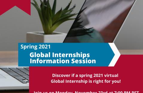 Spring 2021 Global Internships Information Session