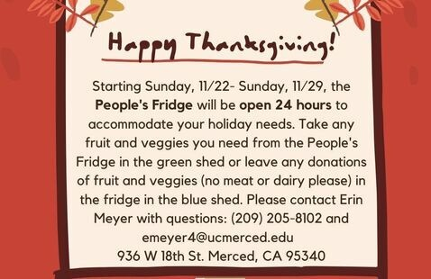 Holiday Hours at the People's Fridge