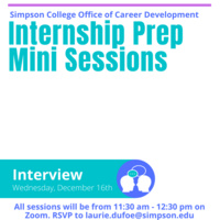 Internship Prep Mini Session - INTERVIEW