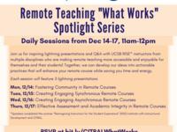"Remote Teaching ""What Works"" Spotlight Series"