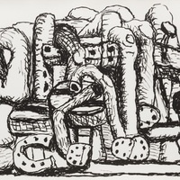 Image: Philip Guston,Pile Up(detail), 1980, lithograph