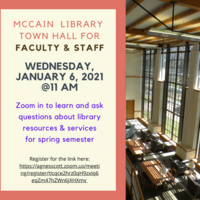 McCain Library Town Hall for Faculty & Staff