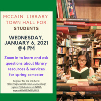 McCain Library Town Hall for Students
