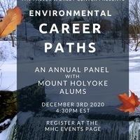 Environmental Career Paths Alum Panel