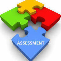 "Colorful puzzle pieces with the word ""Assessment"""