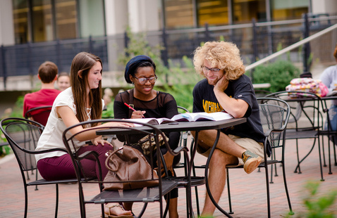 Students on campus.