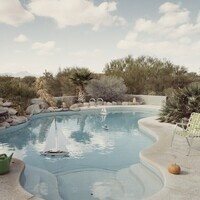 William Larson. Private Pool, Tucson.1980. Chromogenic print. LUF 84 1003. Fine Arts Endowment Purchase