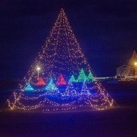 Crossland's Oak Bluffs Christmas Display