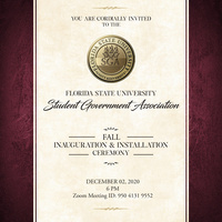 SGA Fall 2020 Inauguration