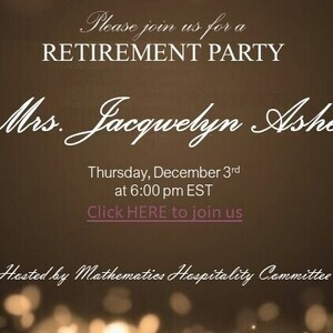 Retirement Party for Mrs. Jacqwelyn Ashe