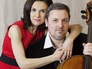 Kouzov Duo: Yulia Fedoseeva, piano (left) and Dmitry Kouzov, cello (right)