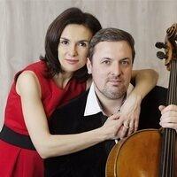 Kouzov Duo: Yulia Fedoseeva, piano (left) and Dmitry Kouzov, cello (right)